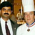 With chef Joel Normard, executive chef to Jacque chirac, president of france
