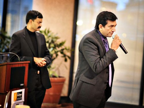 Chef Sanjeev Kapoor addressing the audience