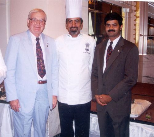 With a former white house chef and Sudhir Sibal