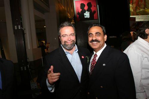 Mr. Surfy Rahman and Mr.Drew Nieporent, owner of the Myraid restaurant group