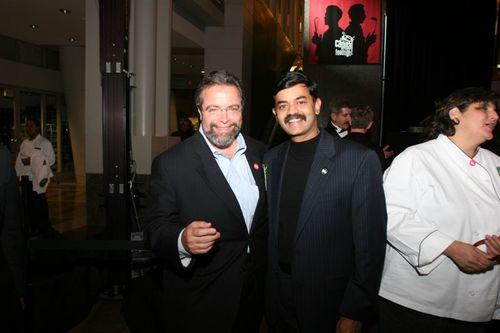 Chef K.N.Vinod and Mr.Drew Nieporent, owner of the Myraid restauranat group