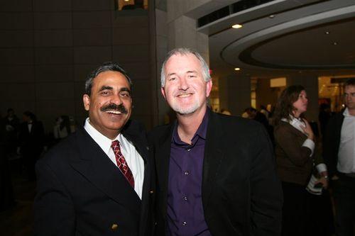 Surfy Rahman and Robert Eggar, founder of DC central kitchen