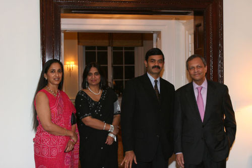 At the residence of the Ambassador of India Mr. Ronen Sen