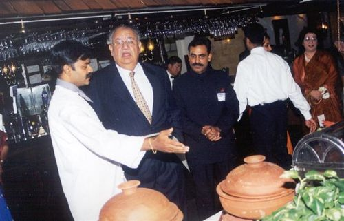 With the former Ambassador of India Mr. Naresh Chandra
