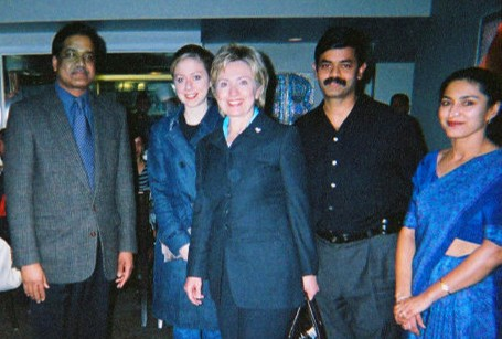 With the former first lady and current secretary of state Ms. Hillary Clinton