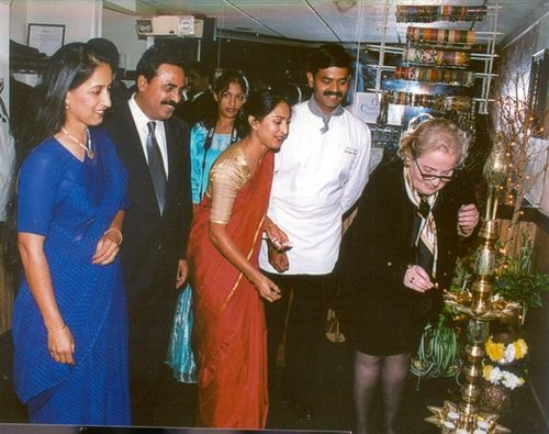 With Madeliene Albright at the inauguration of the South Indian food festival