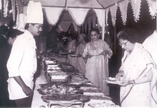 With the former Prime minister of India Mrs. Indira Gandhi