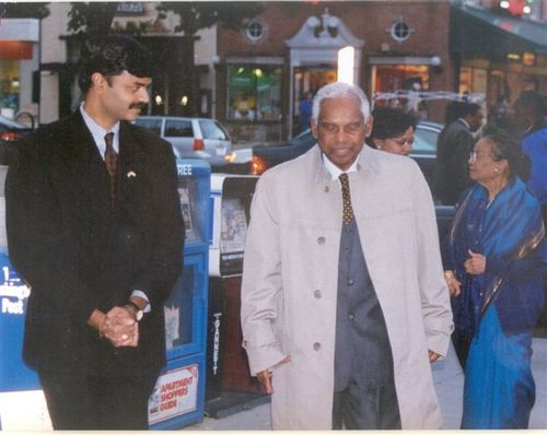 Receiving the President of India, Dr.K.R.Narayanan