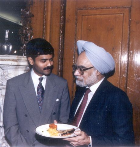 With the current Prime Minister of India and then Finance Minister of India